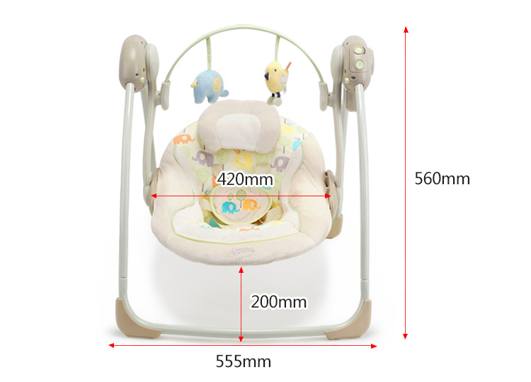 H25ba261fe1f04d6a8f546d15365b32bcS Newborn Gift Multi-function Music Electric Swing Chair Infant Baby Rocking Chair Comfort Cradle Folding Baby Rocker Swing 0-3Y