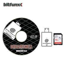 Bitfunx – adaptateur de lecteur de carte SD TF, pour Console SEGA Dreamcast DC et CD avec chargeur de démarrage DreamShell et carte SD de 32 go avec jeux