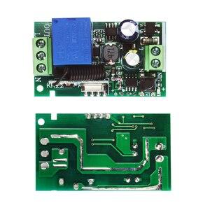 Image 3 - Реле Rubrum 433 МГц, универсальный беспроводной пульт дистанционного управления AC 110 В 220 В, 1 канальный модуль релейного приемника и 433 МГц, 2 кнопочный пульт дистанционного управления