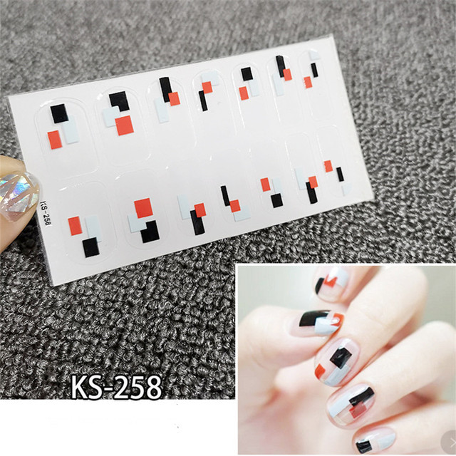 10/20pcs Mixed Designs Full Cover Nail Art Stickers Christmas French Glitter Self-adhesive Decals Slider Wraps Decor Manicure 2