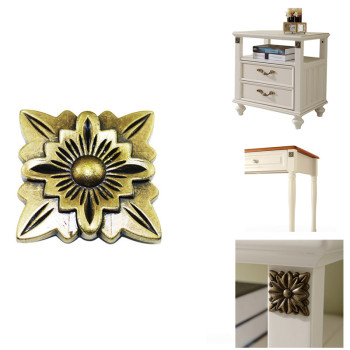 Retro bronze plate Corner Zinc alloy Furniture material decor of antique Wooden jewelry box Dressing Dining table accessories - discount item  30% OFF Furniture Accessories