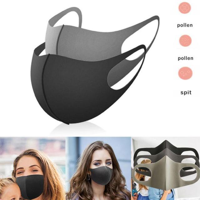 3pcs Sponge Dustproof Breathable Men's and Women's Child Care Masks Washable Reusable Masks Bacteria Proof Flu Face Masks 2