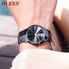 Мужские водонепроницаемые часы olevs с японским механизмом модные
