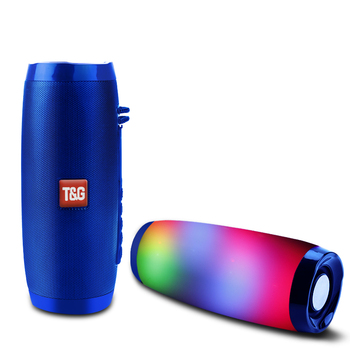 YABA Powerful Portable Speakers Bluetooth Speaker Column Wireless Speaker with LED Night Light TF FM Radio Boombox Built-in Mic
