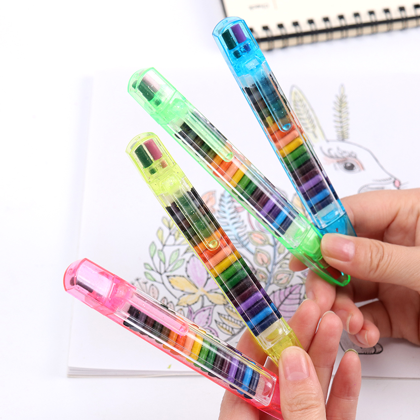 20 Colors/1PC Cute Kawaii Crayons Oil Pastel Creative Colored Graffiti Pen For Kids Painting Drawing Supplies Student Stationery