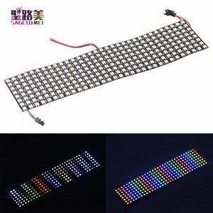 Image 2 - DC5V 8*8,16*16,8*32 ピクセルWS2812 デジタルフレキシブルledプログラムパネル画面個別にアドレス可能フルカラーディスプレイボード