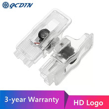 QCDIN For PEUGEOT LED Car Welcome Door Light  HD Logo Projector Light For RCZ 308 408 508 3008 1007