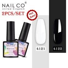 NAILCO Gel Nail Polish Set Nude Color Series Led Varnish Semi Permanent Nail lacquer 2Pcs/Set Black White Gel for Nail Art DIY