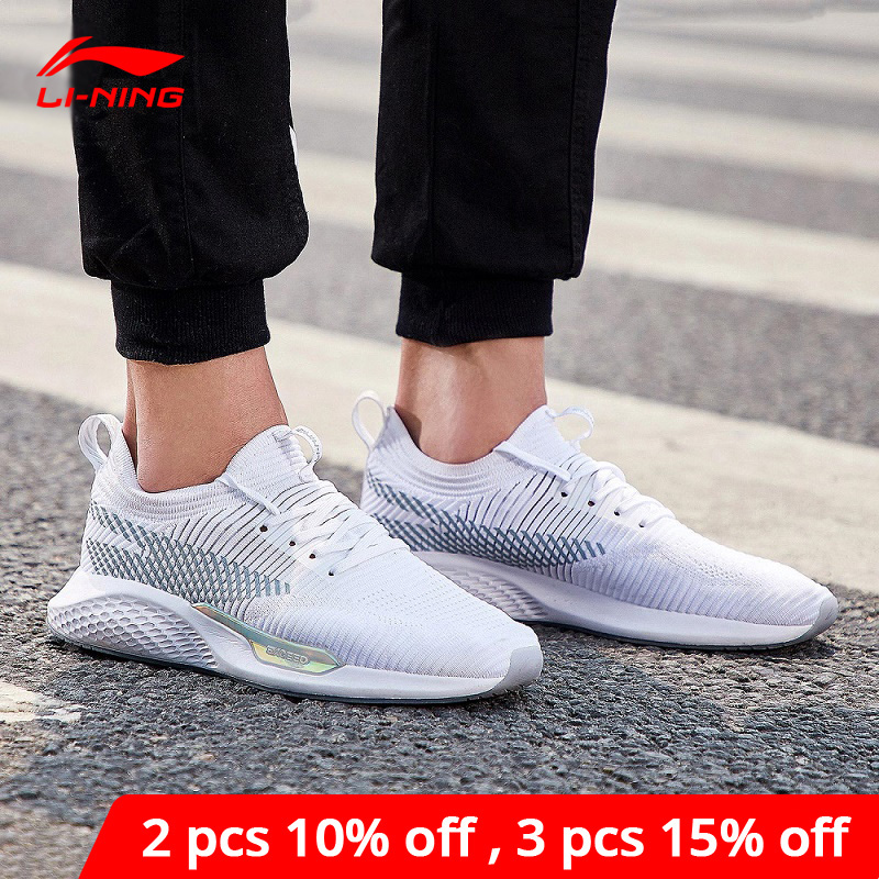 Li-Ning <font><b>Men</b></font> Exceed LT Lifestyle <font><b>Shoes</b></font> The Trend Sneakers Mono Yarn Support <font><b>LiNing</b></font> li ning CLOUD Sport <font><b>Shoes</b></font> AGCN035 YXB149 image