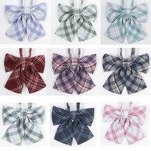 Горячая школьная форма для японской средней школы, японский старшеклассный ортодоксальный решетчатый форменный галстук-бабочка, модная школьная форма для девочек/галстук-бабочка, рубашка, аксессуары