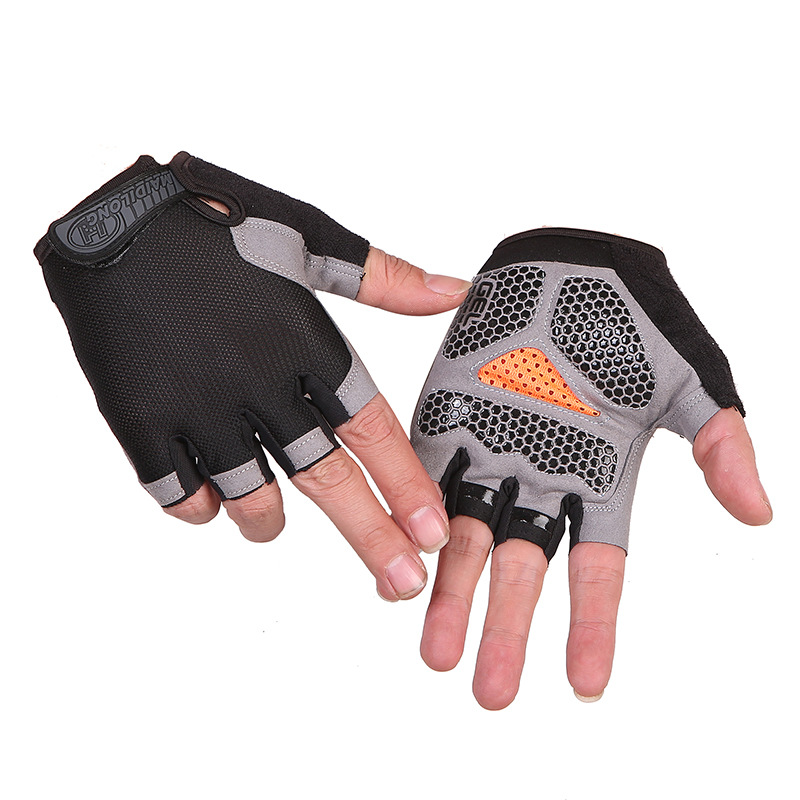 Fitness Weightlifting Gloves Half Finger Non-slip Sunscreen Outdoor Sports Cycling Glove Mitten Men Women Bicycle Riding Gloves