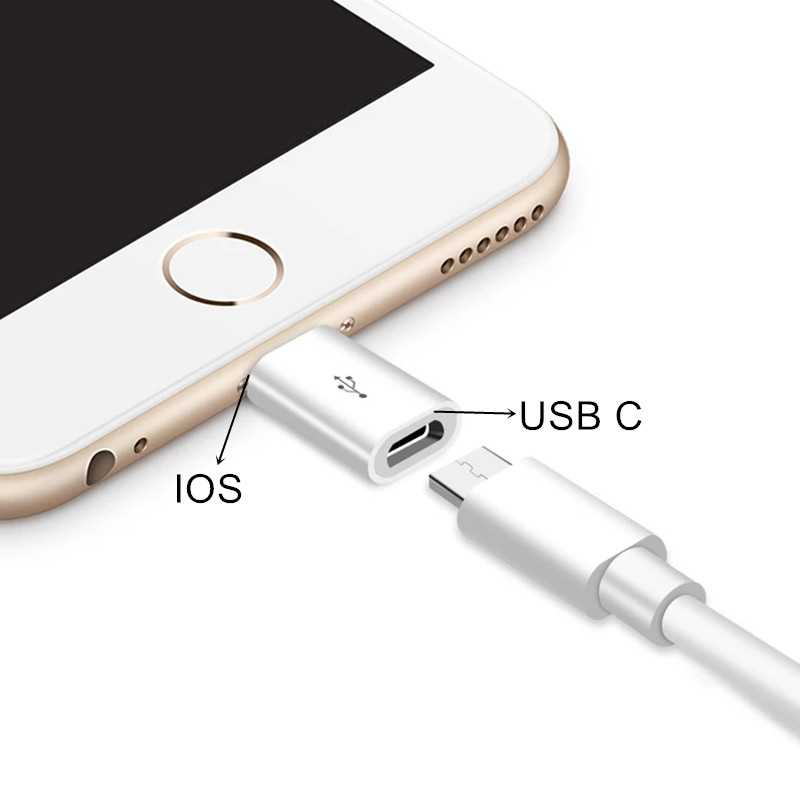 USB C Female To IOS Male Adapter For IPhone 11 Pro Max XS XR X 8 7 For Lightning To Type C Charging Sync Charger Cable Converter
