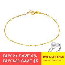 DAIMI браслет из чистого золота цепь 18K цепочка из желтого золота светильник цепной золотой браслет