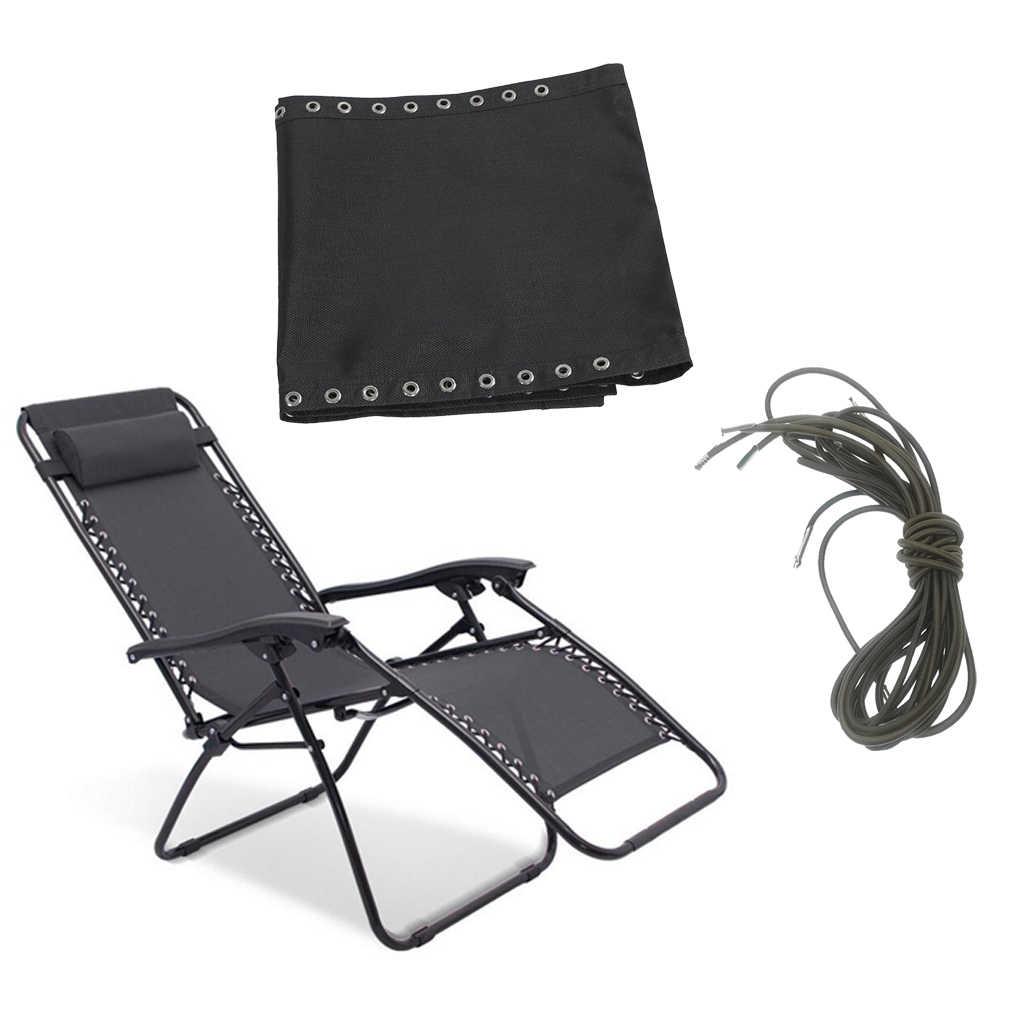 Silla de salón de gravedad cero al aire libre con orificios de bolsa listos, reclinable de césped de Patio plegable