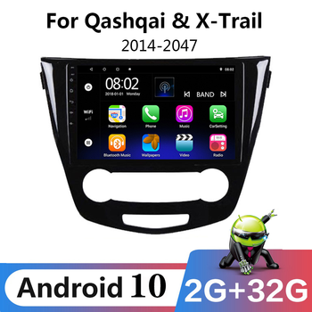 10.1 Android 9.1 2Din Car multimedia GPS Radio Player For 2014 2015 2016 2017 Nissan Qashqai X-Trail Navigation Headunit Stereo image