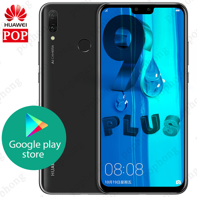 Ban Đầu Huawei Y9 2019 Thưởng Thức 9 Plus 4GB 128GB Smartphone 6.5 Inch 2340X1080 Kirin 710 Octa core Android 8.1 4000 MAh 4 * Camera