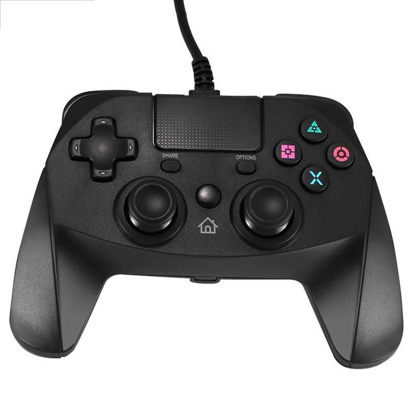 AMS-USB Wired Game Controller untuk Ps4 Ps3 PC Gamepad dengan Double Shock Giroskop Hubungi Pad