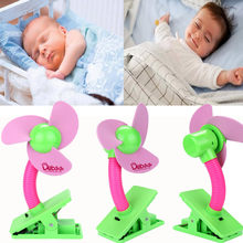Stroller Fan Portable Baby Mini Safety Clip On Pushchair Pram Cot Mini Mute Adjustable Charging Fan Cooler for Baby Stroller(China)