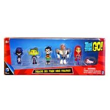 5-13CM Teen Titans Go Action Figures Toys Robin Beast Boy Raven Cyborg Titans Figure Toys for Children teen titans a celebration of 50 years