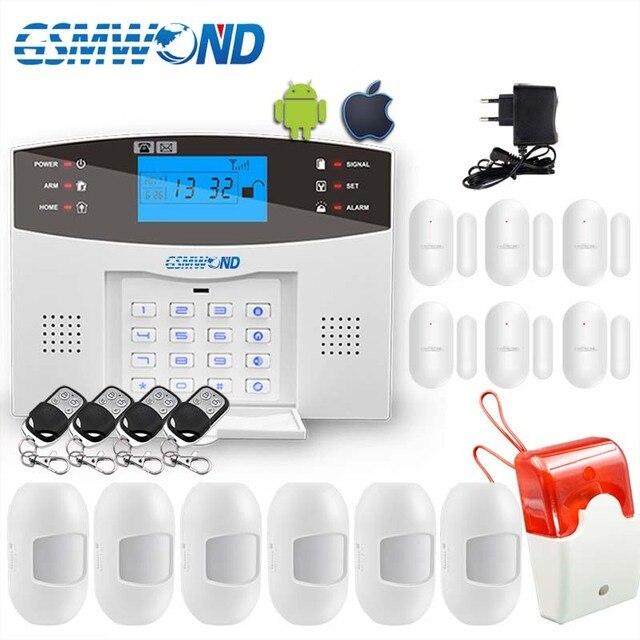נוח מקלדת M2B אלחוטי GSM מערכת אזעקה, LCD מסך, עבור בית פורץ מערכת אזעקה, חיישן גלאי אזעקה