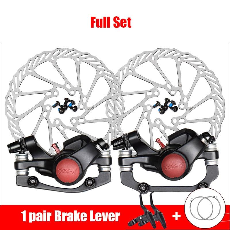 Купить с кэшбэком Mountain Road Bike Brake Pads Front Rear Disc Brake Bicycle Parts Aluminum Alloy Cycling Disc Rotor Disk Brake MTB Accessories