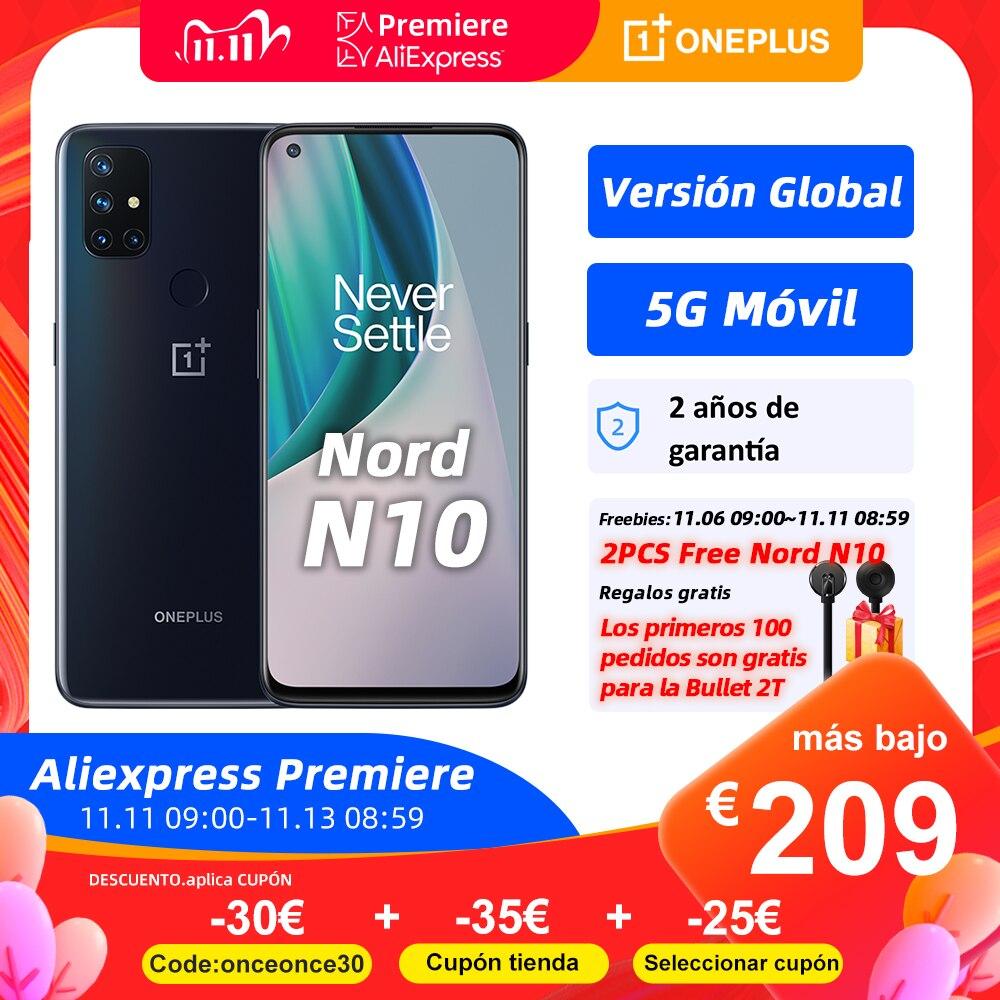 World Premiere OnePlus Nord N10 5G, Versión global, 6GB 128GB móvil 5G, 6.49