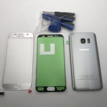 Lưng Pin Cửa Kính Nhà Ở + Màn Hình LCD Trước Màn Hình Cảm Ứng Kính Cường Lực Bên Ngoài Ống Kính Dành Cho Samsung Galaxy Samsung Galaxy S7 G930 G930F s7 Edge G935F