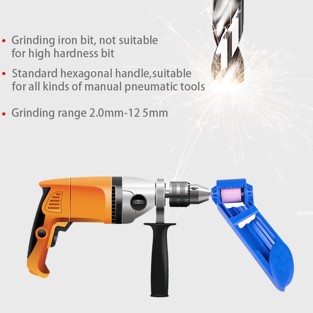 Portable Drill Bit Sharpener Corundum Grinding Wheel Tool Corundum Resisting 14