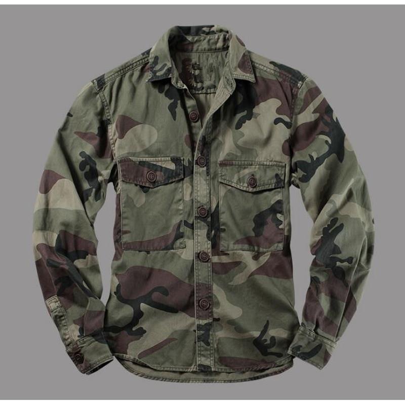 Mountain Camouflage Shirts Men Military Shirt Long Sleeve Jackets Camouflage Uniform Desert Jungle Men's Tops Mens Clothing
