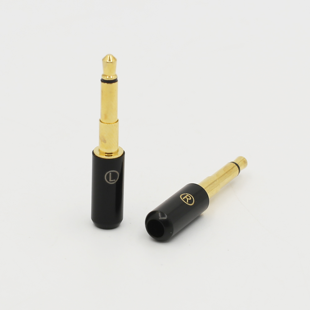 Audiocrast Pair 24K gold Plated <font><b>2.5mm</b></font> <font><b>Audio</b></font> Plug for DIY Allen OPPO PM01 Headphone Upgrade Cable image