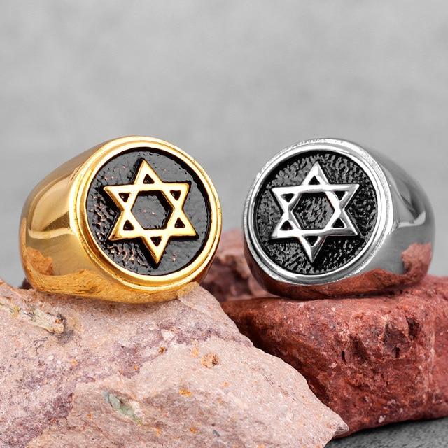 טבעת מגן דוד מזהב