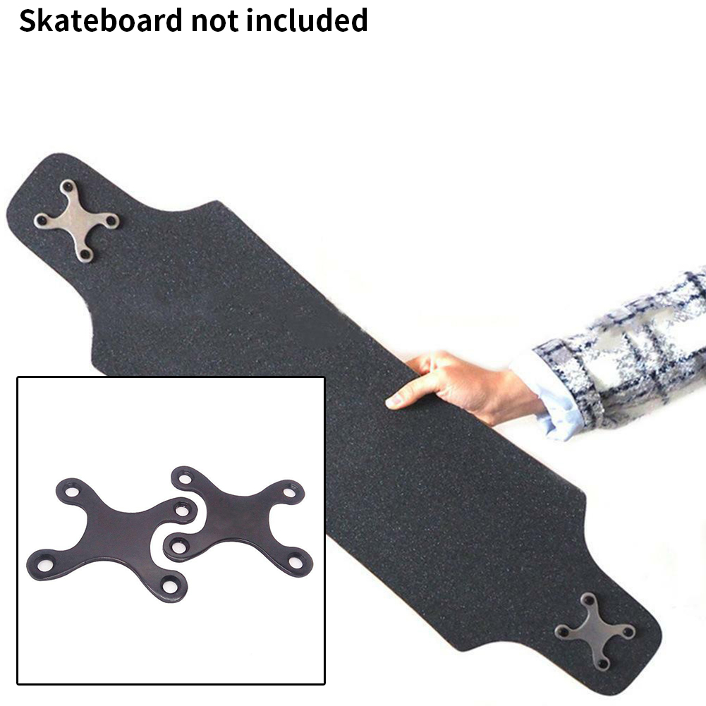 2 Pcs Skateboard Pads Screw Pads Parts Anti Sinking With Hole Longboard Protective Gaskets Accessories Round Edge Aluminum Alloy