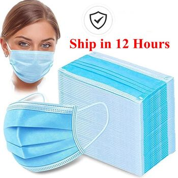 Top Quality Disposable Mask 100Pcs 3 Layer PM2.5 Nonwoven Soft Breathable Anti Pollution Flu Hygiene Face Mouth Masks in stock