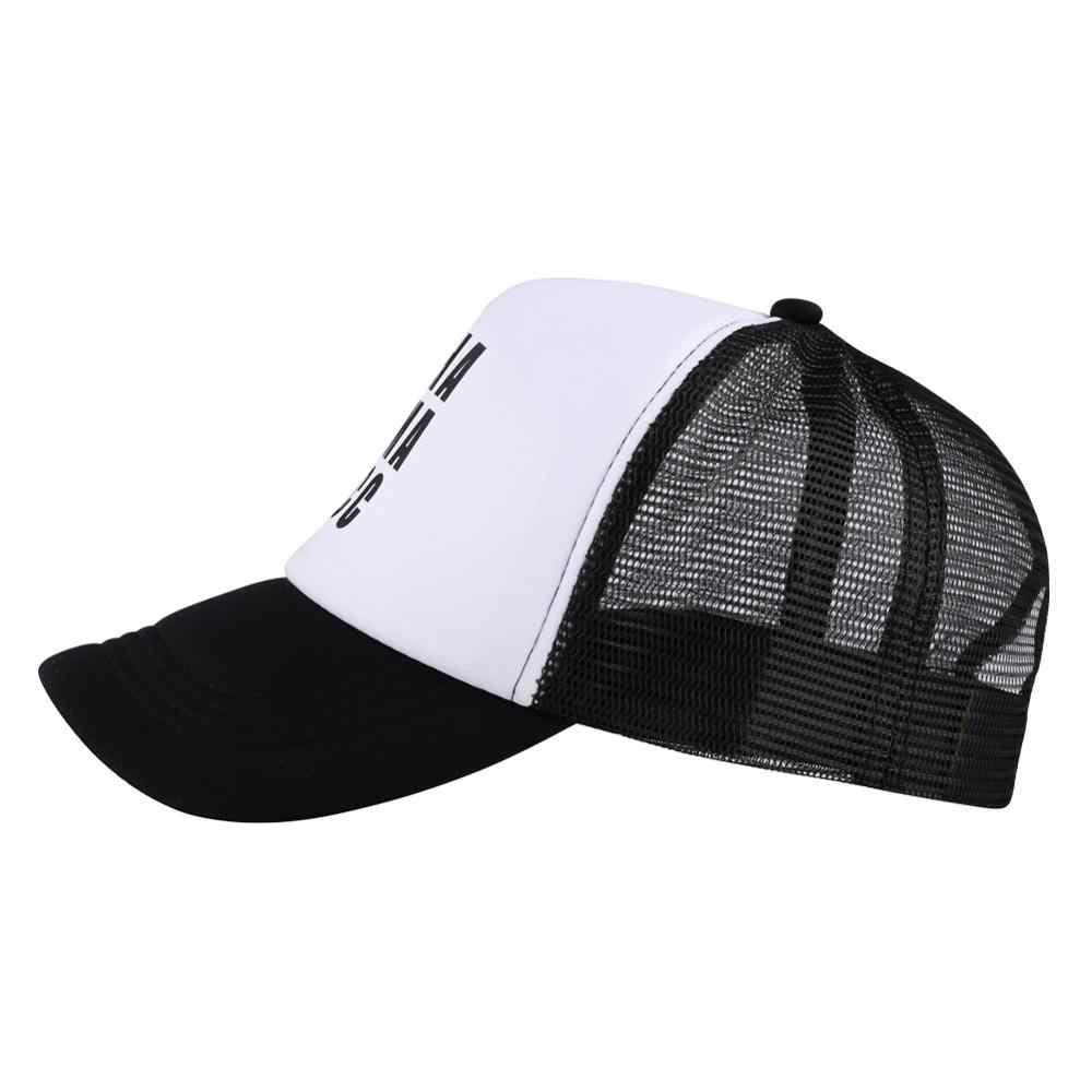 야구 모자 아내 어머니 보스 비문 검은 러시아어 인쇄 메쉬 통기성 뼈 basquete 장착 패치 아빠 모자 실행 낚시