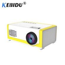 Kebidu M1 Portable Mini Projector 1800 Lumens HDMI 1080P Mini Home Projector 3.5mm Audio For AV USB SD TF Card USB Pocket Beamer