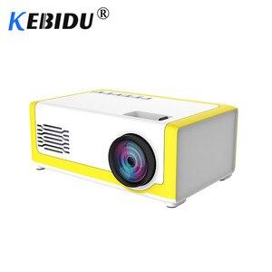 Image 1 - Kebidu M1 Portable Mini Projector 1800 Lumens HDMI 1080P Mini Home Projector 3.5mm Audio For AV USB SD TF Card USB Pocket Beamer