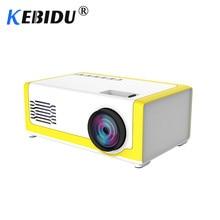 Kebidu mini projetor portátil m1, 1800 lúmens, hdmi, 1080p, mini, casa, 3.5mm, áudio para av usb e sd cartão tf usb de bolso