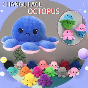 Cute Soft Simulation Reversible Octopu Doll Kids Christmas Gift Double-sided Flip Plush Toy Child Birthday present Fast Ship