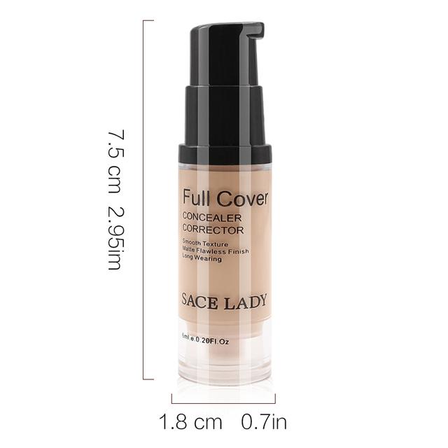 Full Cover 8 Colors Liquid Concealer Makeup 6ml Eye Dark Circles Cream Face Corrector Waterproof Make Up Base Cosmetic