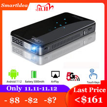 SmartIdea X2 Android7.1 mini phone projector 200lumen 5G wifi bluetooth battery for 3hours play touch keys HDMI in 1080P Beamer