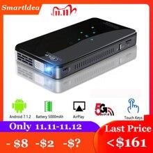 SmartIdea X2 Android7.1 mini telefoon projector 200lumen 5G wifi bluetooth batterij voor 3 uur spelen touch toetsen HDMI in 1080P Beamer