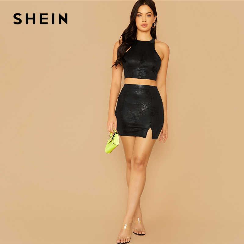SHEIN serpent en relief boléro femmes glamour mode solide été automne femme nouveau mince ajusté haut gilets