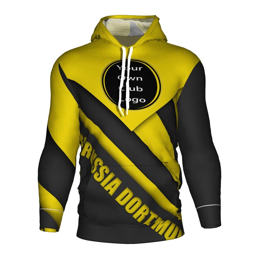 Borussia Dortmund Soccer Jersey 2018 2019 Football 3d Hoodie Tracksuit Dortmund Training Kit Borussia Dortmund Kids Sweatshirt