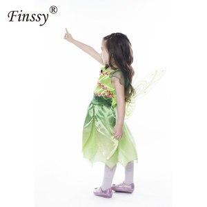 Image 3 - 나비 꽃 요정 코스프레 의상 소녀 할로윈 카니발 축제 파티 성능 드레스 날개 Garlands 포함