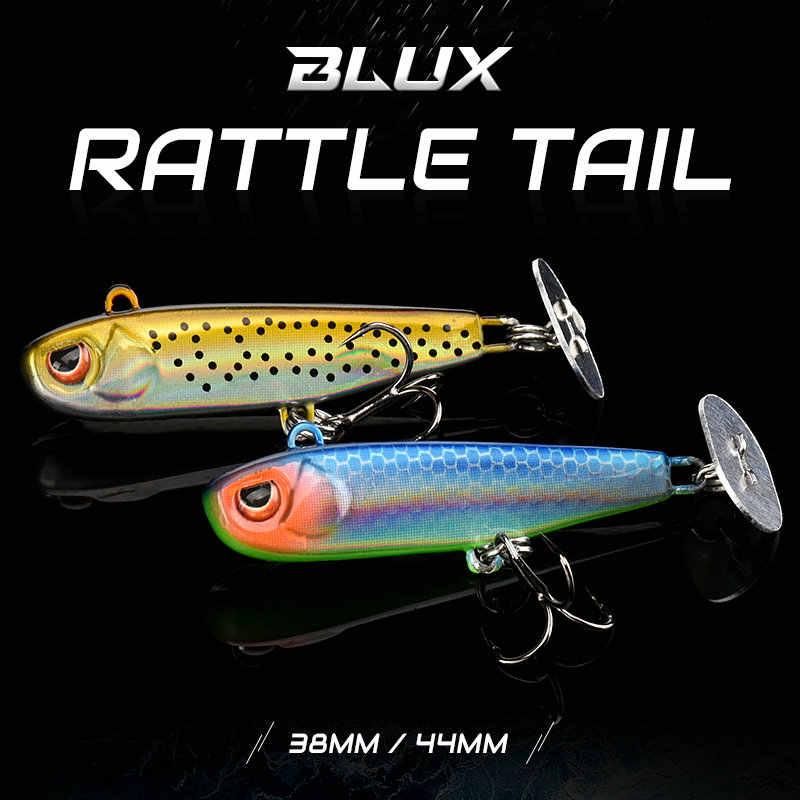 BLUX Rattle Tail 38 มม.44 มม.Shining PaddleโลหะJig FastสังกะสีJiggingช้อนเหยื่อปลาเทราท์เบสSinkingตกปลาตกปลาตกปลา