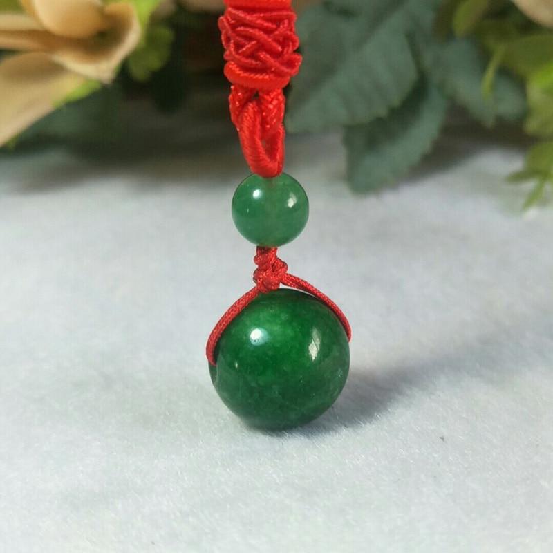 Jade Pendant  Myanmar Jade Green Beads Pendant Necklace Jewelry Fine Jewelry Lucky Talisman Beads Pendant Christmas Gift Jewelry