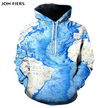 World Map Hoodie Men Graffiti Hoodies 3d Geometric Print Sweatshirt Anime Funny Mens Clothing Colorful Hooded Pullover New