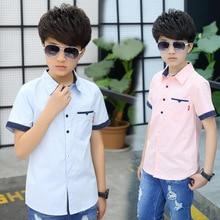 Новинка года; стильная повседневная детская рубашка; летняя одежда для мальчиков; детская рубашка в горошек с короткими рукавами; детская одежда