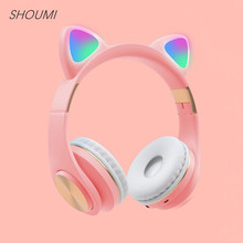 Headphone Stereo Earbuds Musica Noise Cancelling Bluetooth 5.0 Mic Cascos Cat-Ear Fantasy