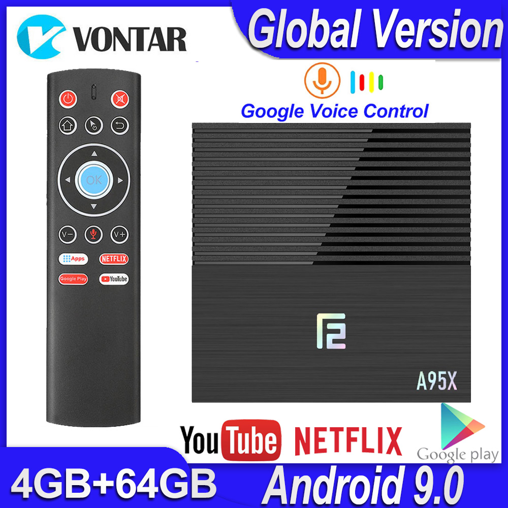 Android 9.0 Smart TV Box A95X F2 4GB 64GB Android TV Box Amlogic S905X2 2.4G/5G Wifi BT4.2 Media Player Youtube 4K Set Top Box